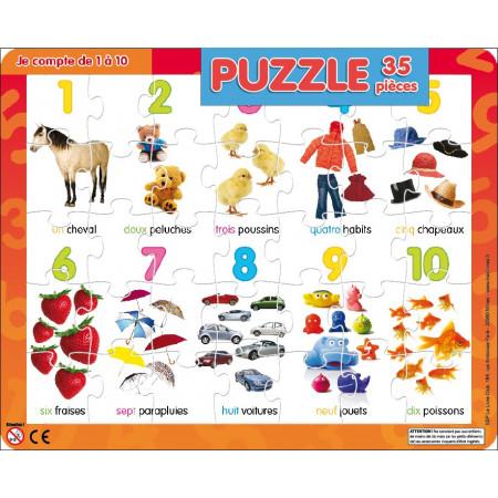 Puzzle 35 pièces Je compte de 1 à 10