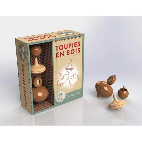 Coffret Toupies en bois
