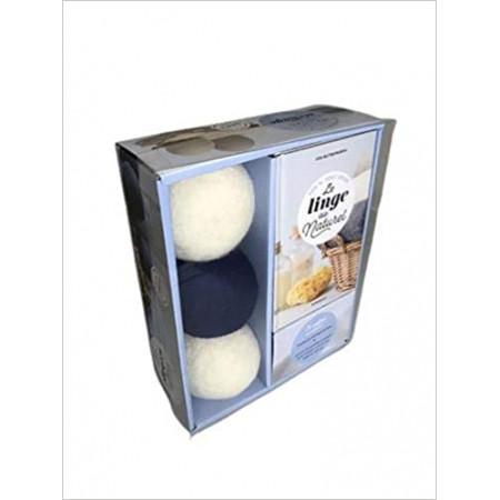 Coffret Balles de séchage - Tout doux le linge avec 3 balles de séchage en laine
