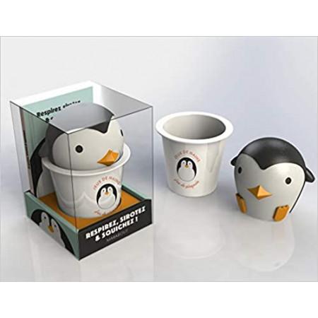 Coffret Jeux de mains - Le livre Respirez, sirotez & squishez ! avec 1 mug et 1 squichy Pingouin