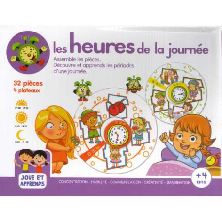 Boîte de jeux Les heures de la journée + 4 ans