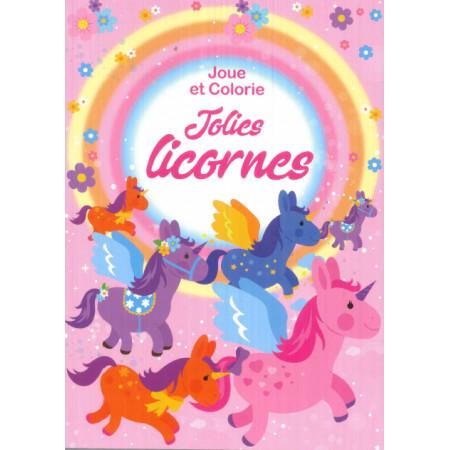 Joue et colorie Jolies licornes