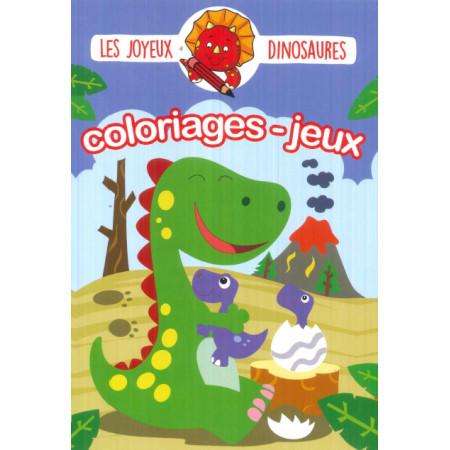 Les joyeux dinosaures Coloriages et jeux