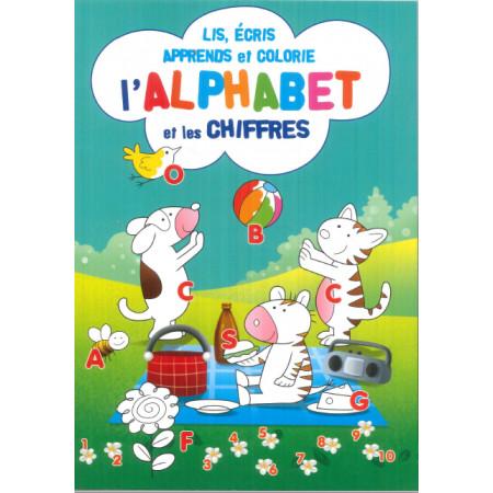 Lis, écris, apprends et colorie l'alphabet et les chiffres