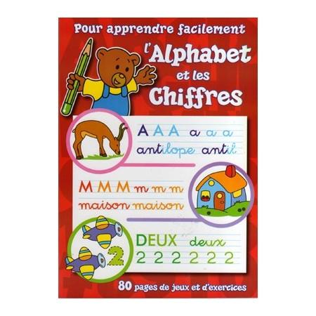 Pour apprendre facilement l'alphabet et les chiffres (rouge)