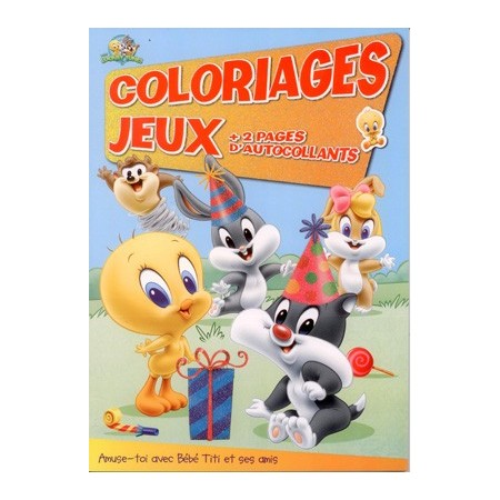 Coloriages jeux Bébé Titi + 2 pages d'autocollants