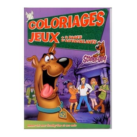 Coloriages jeux Scooby-Doo + 2 pages autocollants