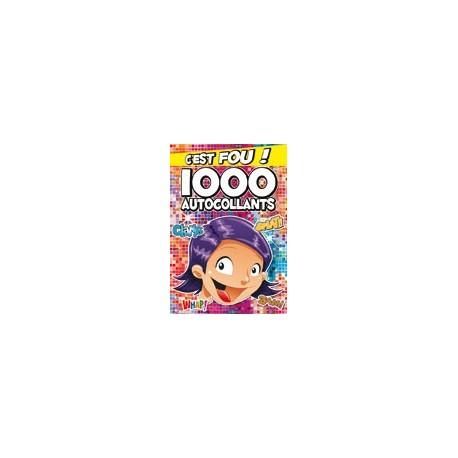 1000 autocollants (rouge)