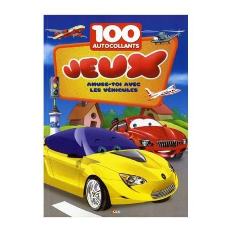 Véhicules. 100 autocollants + jeux