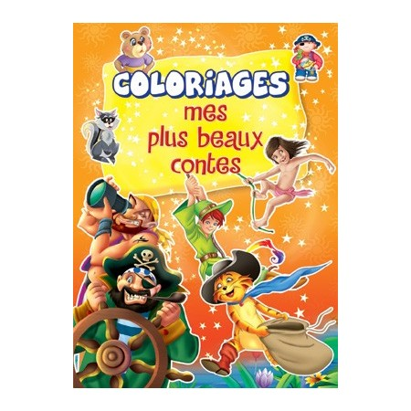 Mes plus beaux contes (orange). Coloriages