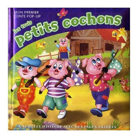 Les trois petits cochons (violet). Mon premier pop-up