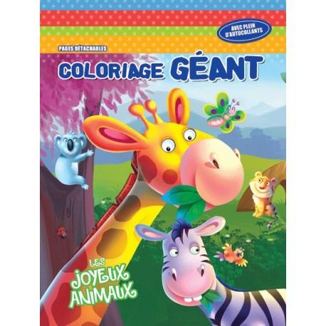 Les joyeux animaux Coloriage géant