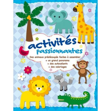 Activités passionnantes (animaux prédécoupés,autocollants,coloriages..)