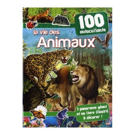 Les animaux (vert). 100 autocollants + 1 panorama