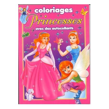Princesses. Coloriages avec autocollants
