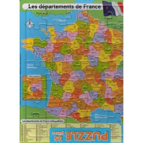 Les départements. Puzzle 35 pièces