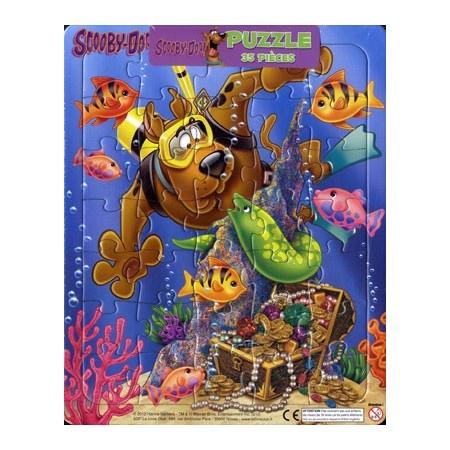 Scooby-Doo fait de la plongée sous-marine. Puzzle 35 pièces
