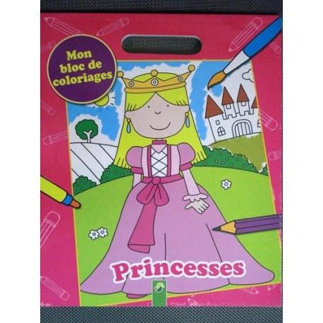 Princesses. Mon bloc de coloriages +3
