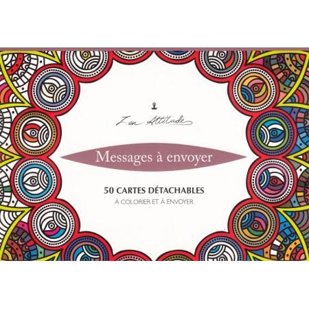 Zen attitude 50 cartes postales détachables à colorier