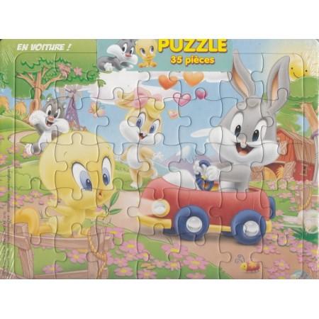 Looney Tunes En voiture ! Puzzle 35 pièces