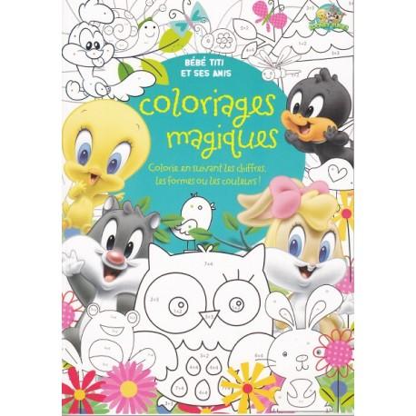 Coloriages magiques Bébé Titi et ses amis