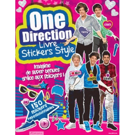 ONE DIRECTION - LIVRE STICKERS STYLE