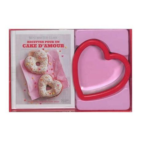 Recettes pour un cake d'amour - Coffret avec un emporte-pièce en forme de coeur
