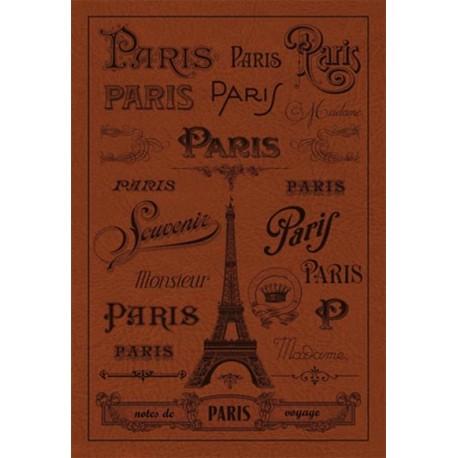 Carnet - Paris - chocolat - toucher peau de pêche