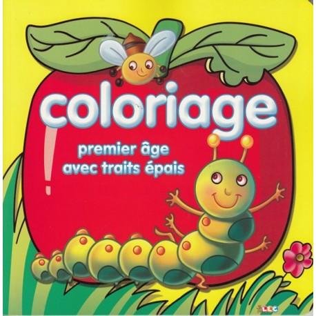 Coloriage premier âge avec trait épais (fond jaune)