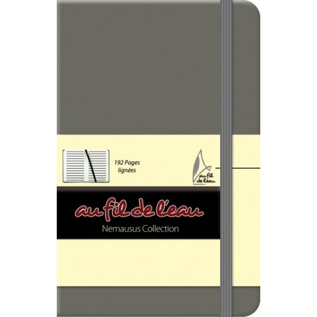 Carnet de notes - 9x14 - rigide - gris