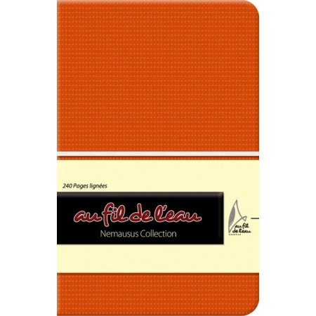 Carnet de notes - 9x14 - souple - orange