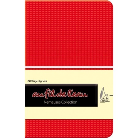 Carnet de notes - 9x14 - souple - rouge