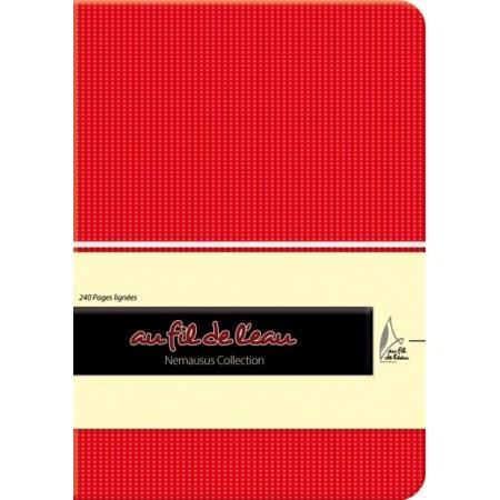 Carnet de notes - 12x17 - souple - rouge
