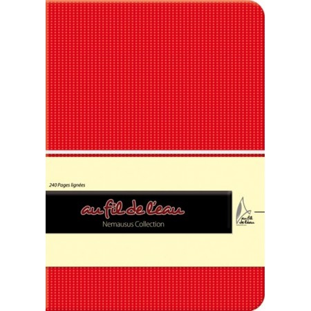 Carnet de notes - 12x17 - souple - rouge