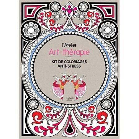 L'atelier Art-thérapie - Kit de coloriages anti-stress