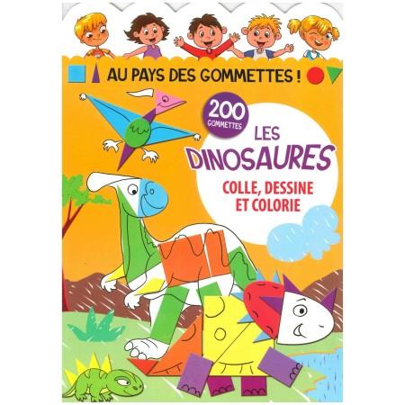Au pays des gommettes - les dinosaures