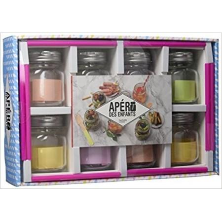 Apéro des enfants - Avec 8 mini-jars + 8 pailles assorties (Coffret)