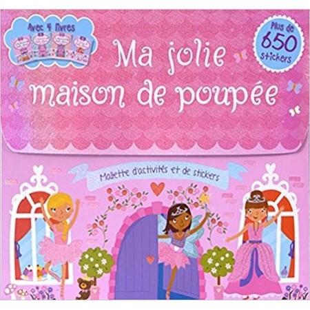 Ma jolie maison de poupée - Avec 4 livres et 650 stickers (Coffret)
