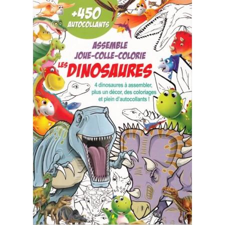 Les dinosaures Assemble Joue Colle Colorie
